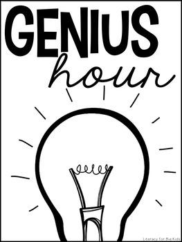 Genius Hour Classroom Materials (Teacher & Student) Editable Parent Letters