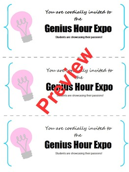 Genius Hour Expo