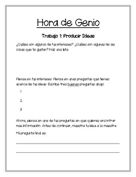Genius Hour/Hora de Genio