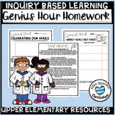Genius Hour Ideas Weekly Homework Template