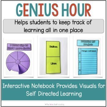 Genius Hour Interactive Notebook PRINT and Google Classroom™ Distance Learning