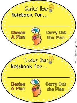 Genius Hour:  Interactive Notebook
