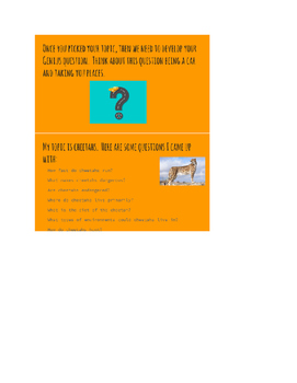 Genius Hour Introduction and Question Generation Powerpoint and Planning Sheets