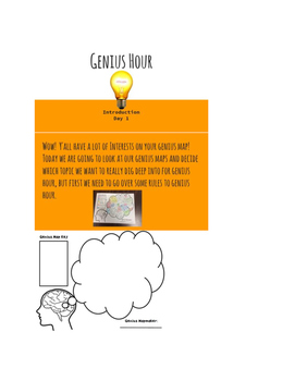 Genius Hour Introduction and Question Generation Powerpoin