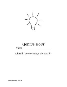 Genius Hour Pack