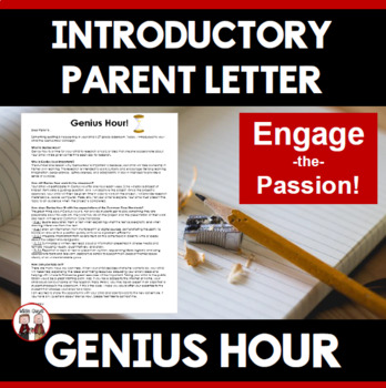 Genius Hour Parent Letter
