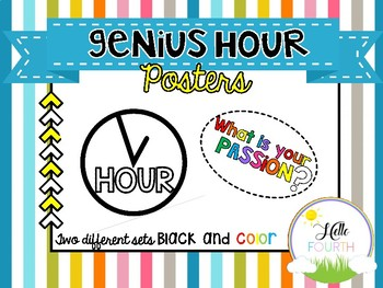 Genius Hour Passion Project Sign Posters