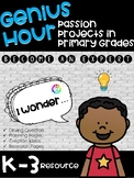 Genius Hour Passion Projects for Primary Grades