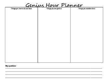 Genius Hour Planner