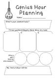 Genius Hour Planning Sheet