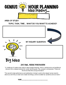 Genius Hour Planning Template