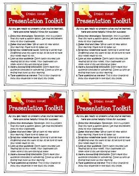 Genius Hour Presentation Tips and Rubric