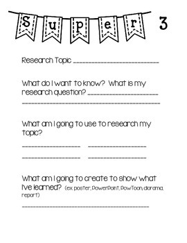 Genius Hour Project for 2nd/3rd Grade