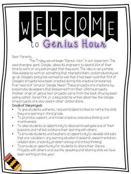 Genius Hour Starter Pack