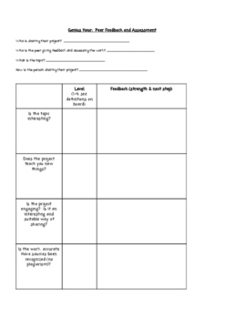 Genius Hour Supports for Accountability