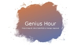 Genius Hour Training: Project Step #2 Shark Tank-Style Pitch