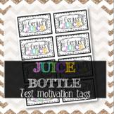 Genius Juice Bottle Labels - Test Motivation Notes