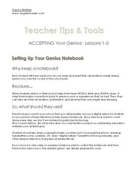 Genius Matters- Book Lessons 1-3