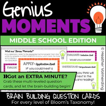 Genius Moments: Brain Building Question Cards for ALL levels of Bloom's Taxonomy