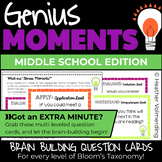 Genius Moments: Brain Building Question Cards for ALL leve