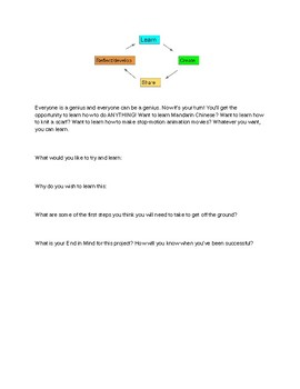 Genius Project Goal Setting Work Sheet