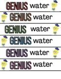 Genius Water Bottle Label Test Encouragement