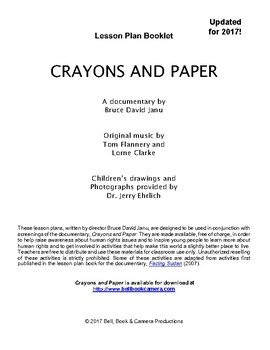 "Genocide:  ""Crayons and Paper"" Lesson Plans"