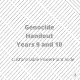 Genocide Customisable PowerPoint Slide