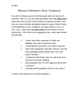 Genocide Informative Essay Prompt
