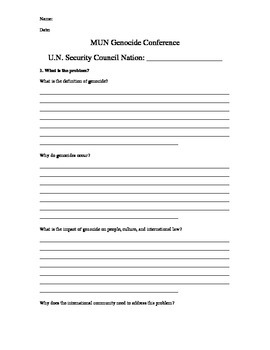 Genocide Position Paper