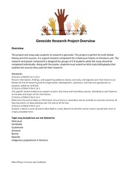 Genocide Research Project Overview and Guidelines
