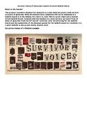 Genocide Survivor Stories Black Out Poem Bulletin Board- Easy to put together