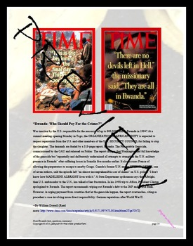 Genocide: War: Non-fiction: Hotel Rwanda (quiz, questions, summary)