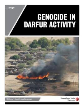 Genocide in Darfur Activity