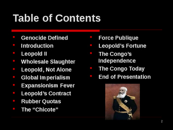 Genocide in the 19th Century - King Leopold II of Belgium