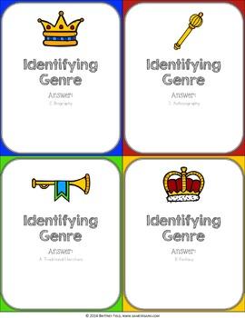Genre Activity: Identifying Genre Reading Game
