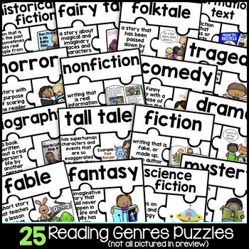 Genre Activities | 25 Reading Genre Puzzles