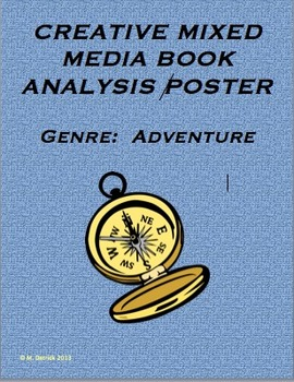 Genre:  Adventure / Creative Hands-on Mixed Media Poster Activity CCSS Based