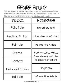 Genre Anchor Chart