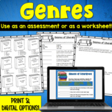 Genre Assessment or Worksheet