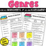 Genre Assessment or Worksheet