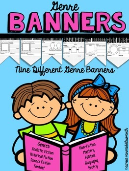 Genre Banners- 9 Different Banners for Comprehension