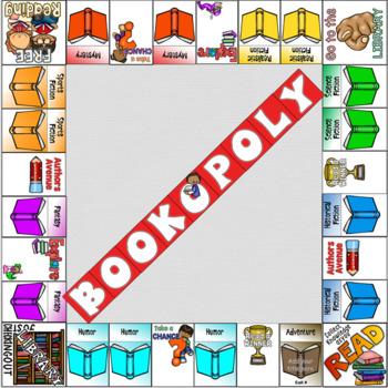 Genre Based Bookopoly Display