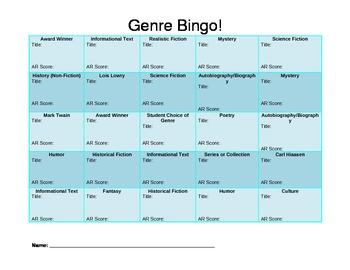 Genre Bingo