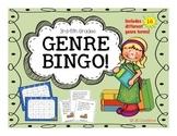 Genre Bingo Game (3rd, 4th, 5th grade)