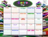 Genre Bingo Grades 3-6