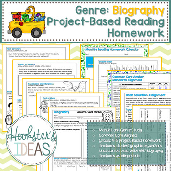 Genre: Biography Project-Based Reading Homework