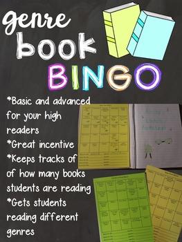 Genre Book BINGO-Editable