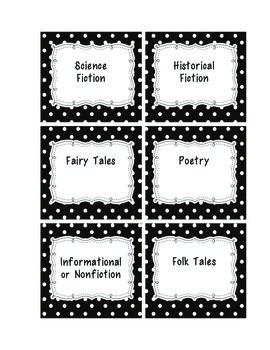 Genre Book Bins/Labels