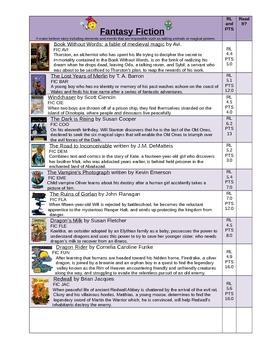Genre Book Log and bookmarks